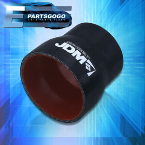 Silicone 2 5 To 3 Reducer Coupler Hose Pipe Race Intake Black Red 3ply For Gto