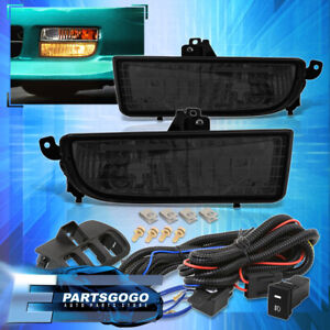 For 97 01 Honda Prelude Smoked Driving Bumper Fog Lights Lamps W Switch Harness