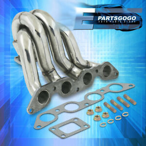 For 84 89 Toyota Corolla Ae86 4age T25 Stainless Steel Turbo Exhaust Manifold