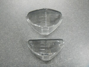 1965 Buick Riviera Turn Signal Lenses Pair Parking Lamp Lens 65 Lower Light New