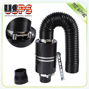 3 Universal Car Cold Air Filter Feed Enclosed Intake Induction Pipe Hose Kit