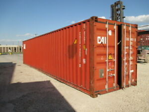 Used Shipping Storage Containers 40ft Wwt Savannah Ga 1700