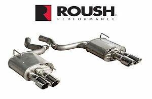 2015 2017 Mustang I4 2 3 Coup Roush 421922 Quad Tip Passive Exhaust Kit