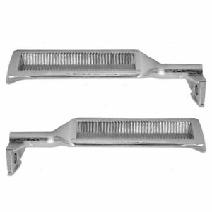 Chrome Inside Door Handles Set Pair Lh Rh Metal For 87 96 F150 F250 F350 Bronco