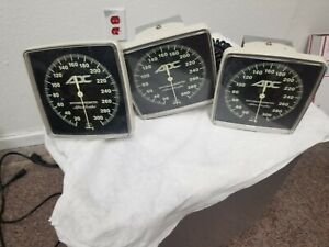Lot Of 3 Adc Wall Mount Aneroid Sphygmomanometer Blood Pressure Gauge Bp
