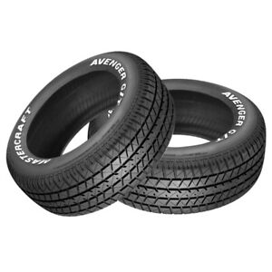 2 X New Mastercraft Avenger G T 225 70 15 100t Muscle Car Performance Tire