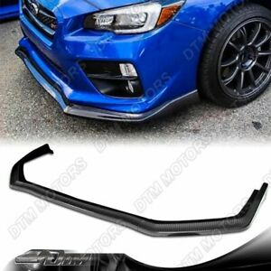 For 2015 2020 Subaru Wrx Sti Cs Style Carbon Look Front Bumper Body Lip 3pcs