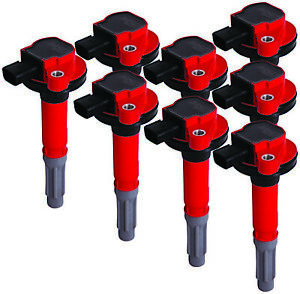 Msd 82488 Msd Ignition Coils 2011 2016 Ford 5 0l Coyote Engines Red 8 pack