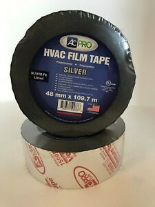 Hvac Metalized Film Tape Ul181b Silver 2 X 120 Yards two Rolls