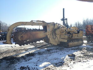 Tesmec Trs900 Slo Crawler Trencher Low Hours Cummins Dsl Trs 900 Carbide Chain