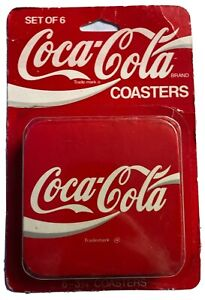 Set Of 6 Coca Cola Coasters Vintage Sealed