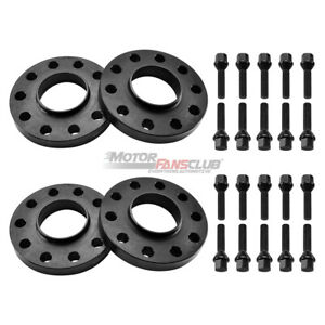 4pcs 5x120 Wheel Spacers Kit 2 15mm 2 20mm W Extended Bolts Fit For Bmw