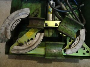 Greenlee 777 Hydraulic Bender 1 1 4 To 4 With Pump And 1803 Pipe Supports