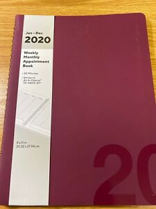 2020 8 5 X 11 Large Appointment Book Purple 56710 20