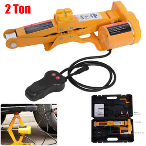 2ton 12v Dc Automotive Electric Scissor Car Jack Lifting Impact Wrench Tools Set