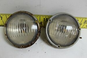 Oem Gm Pair Of Fog Lights Guide A 50 Rh Lh Lamps 1952 Cadillac svm53