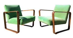 1940s Vintage Edward Wormley For Dunbar Lounge Chairs A Pair