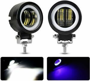 Pair 3 Inch Led Work Light Bar Spot Pods Driving Fog Off Road 4wd Truck Driving