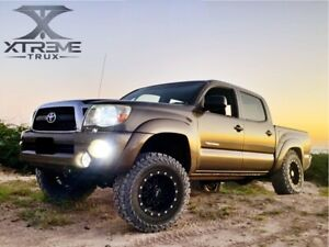For Paintable Black 05 11 Toyota Tacoma Extended Fender Flares Short Bed 60 3 5