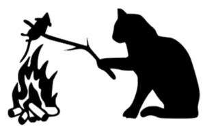 Custom Campfire Kitty Window Decal Stickers Cat Love Car Truck Decals