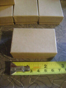 Lot 60 Kraft Brown Paper Jewelry Boxes Ring Gift 2 5 X 1 5 X 1 Includes Insert