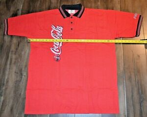 Riverside Coca Cola Polo Shirt Red Size Extra Large Coke Short Sleeve Mens