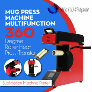 Pen Heat Press Transfer Sublimation 360 Degree Roller Mug Press Machine