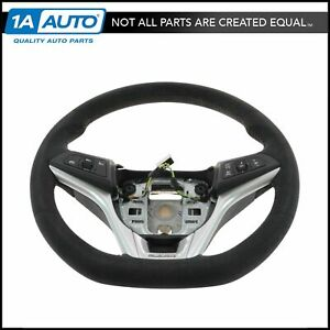 Oem 22896546 Black Suede With Red Stitching Zl1 Steering Wheel For 12 15 Camaro