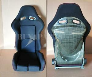 Real Yellow Carbon Fiber Sheld Black Cloth Red Stitching Racing Seat With Slider