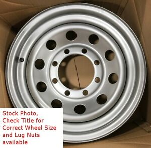 4 New 16 Inch Trailer Wheels 16x6 8on6 5 8 Bolt Silver Mod Rated 4 400lb