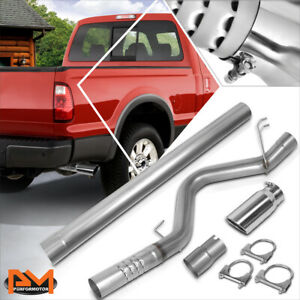 For 08 10 Ford Superduty 6 4l Turbo Diesel 5 Muffler Tip Catback Exhaust System