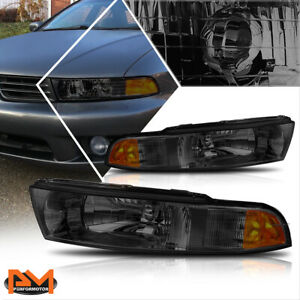 For 99 03 Mitsubishi Galant Direct Replacement Headlight lamp Amber Side Smoked