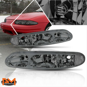 For 99 04 Oldsmobile Alero Replacement Headlight Lamps Smoked Housing Clear Side