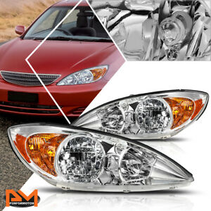 For 02 04 Camry Xv30 Headlight lamp Replacement Chrome Housing Amber Side