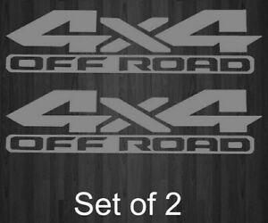 Dodge Ram 4x4 Off Road 1500 2500 Truck Bed Decal Vinyl Sticker Silver