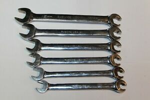 Snap On Tools Metric Open End Flare Nut 6pt Line Wrench Set 6pc Usa