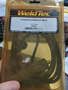 Weldtec 2538 Connector Dinse 6 Hose For 9 17 24