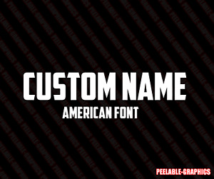 Custom Text American Lettering Sticker Decal Personalized Window Business Car