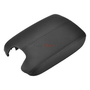 For Honda Accord 08 12 Leather Armrest Cover base Console Lid Complete Black Kit
