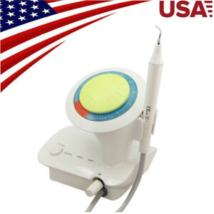 Usa Dental Ultrasound Ultrasonic Scaler Piezo Handpiece 5 Tips Teeth Cleaning Us