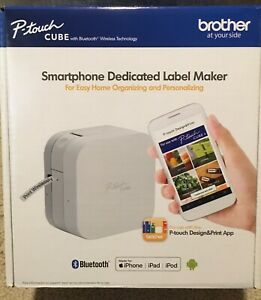 New Brother P touch Cube Smartphone Dedicated Label Maker Bluetooth Wireless