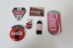 Coca Cola  Lot If 6 Collectable Coke Magnets