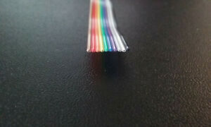 10 Conductor 28awg Color Rainbow Ribbon Wire Cable