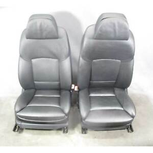 2010 2013 Bmw F10 5 series F01 Front Comfort Seat Pair Heat Black Leather Oem
