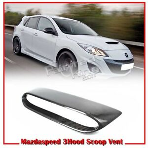 10 13 For Mazda 3 2nd 4d 5d Mps For Mazdaspeed Front Hood Scoop Vent Carbon
