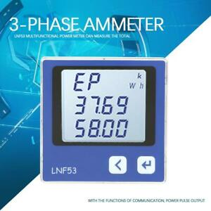 Lnf53 Intelligent Digital Display Three phase Multi function Power Meter Ammeter
