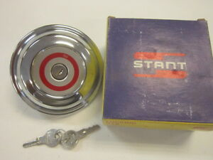 Nos Stant G755 Chrome Locking Fuel Gas Cap Ford 71 73 Mustang Maverick Comet