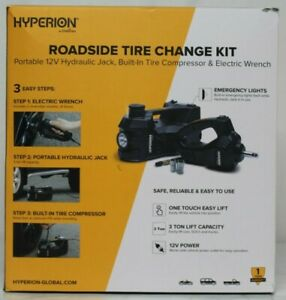 new Deltran Hyperion Roadside Tire Change Kit Portable 12v Hydraulic Jack