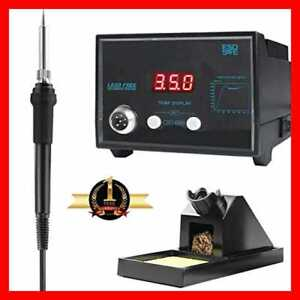 Digital Soldering Iron Station W Stand Tip Cleaning Wire Sponge