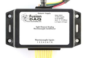8 ch K type Analog Thermocouple Amplifier 0 5v Output 250c 1000c Grounded Tc